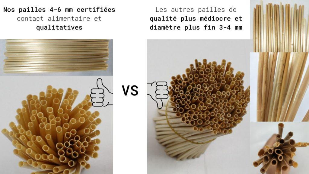 paille en ble versus comparatif qualite